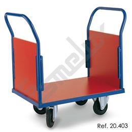 Plataforma rodante con 2 laterales