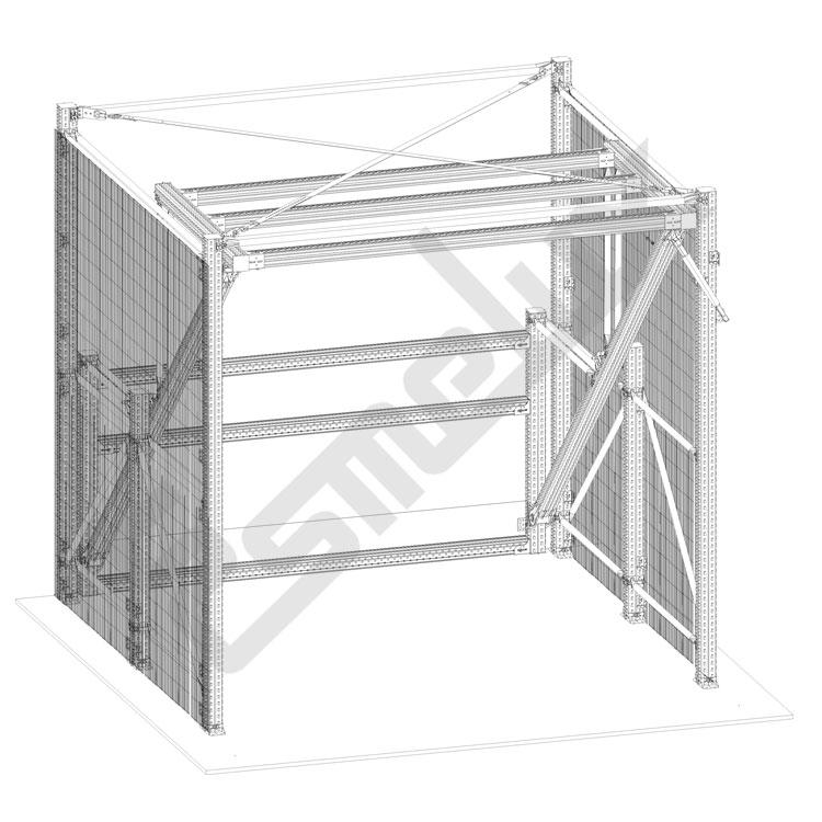 Puerta basculante de seguridad modelo TS. Imagen #3