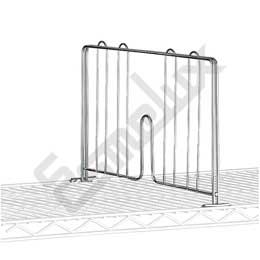 Separador para estantería cromada