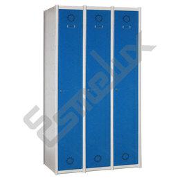 Taquillas Serie 1 con 3 columnas, 1x3 = 3 puertas