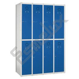 Taquillas Serie 2 con 4 columnas, 2x4 = 8 puertas