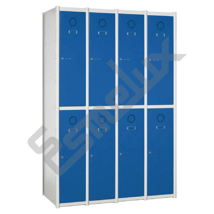Taquillas Serie 2 con 4 columnas, 2x4 = 8 puertas. Imagen #0