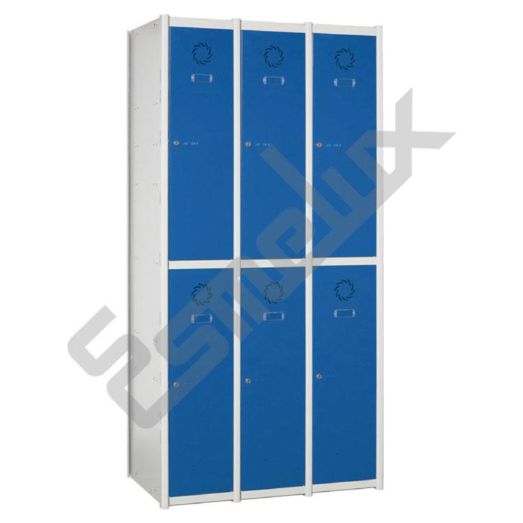 Taquillas Serie 2 con 3 columnas, 2x3 = 6 puertas. Imagen #0