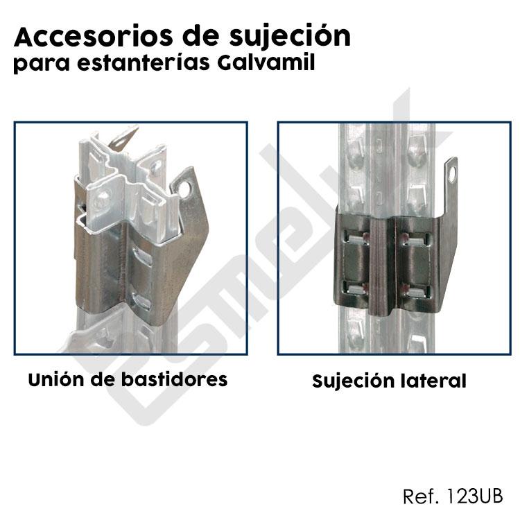 Accesorios de sujeción para estanterías Galvamil. Imagen #3