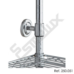 Accesorios de sujección para estanterías cromadas. Imagen #2