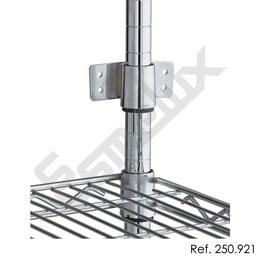 Accesorios de sujección para estanterías cromadas. Imagen #1