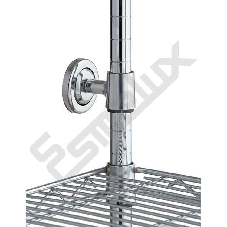 Accesorios de sujección para estanterías cromadas. Imagen #0