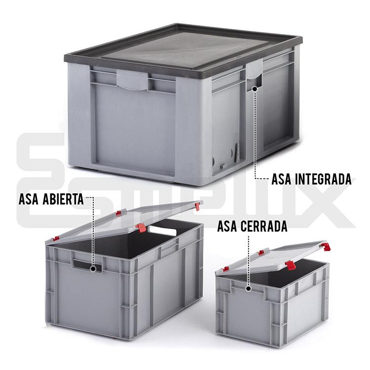 Cajas Apilables Eurobox Norma Europea. Imagen #1