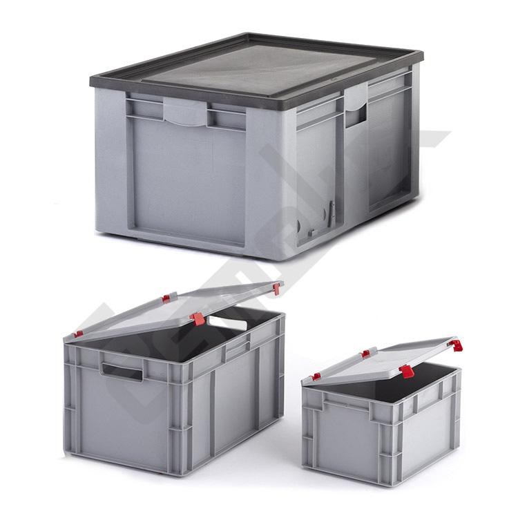 Cajas apilables eurobox norma europea - Cajas de polipropileno ...