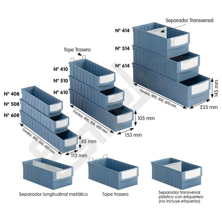 Estanterías con cajones combinados RGB 8-10-14. Imagen #2