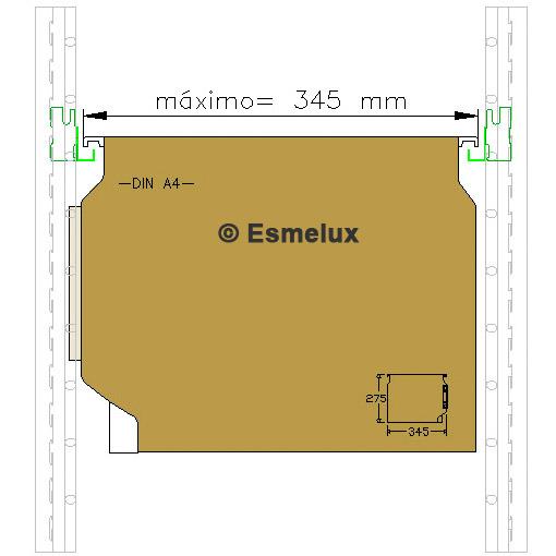 Carpetas colgantes con visor lateral - Esmelux. Imagen #2