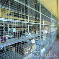 Mallas expositoras cromadas para estanterías. Imagen #5