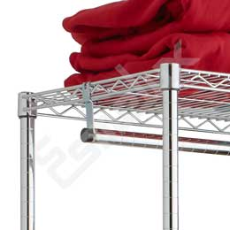 Estantería Cromo para Textil - estantes inclinados. Imagen #2