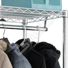 Estantería Cromada para Textil con barra colgadora. Imagen #2