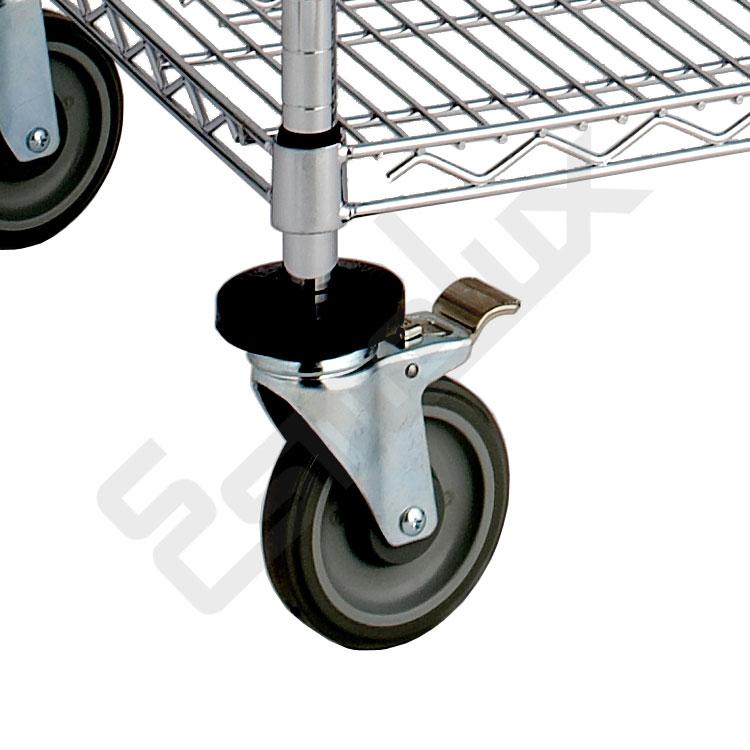 Estantería cromada Pesada con ruedas. Imagen #2