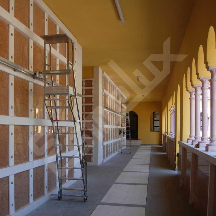 Escalera  adosada SL con plataforma y ruedas. Imagen #2