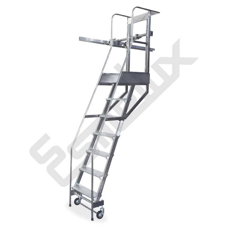 Escalera sl adosada a estanter a con ruedas referencia 80041 - Escalera de biblioteca ...