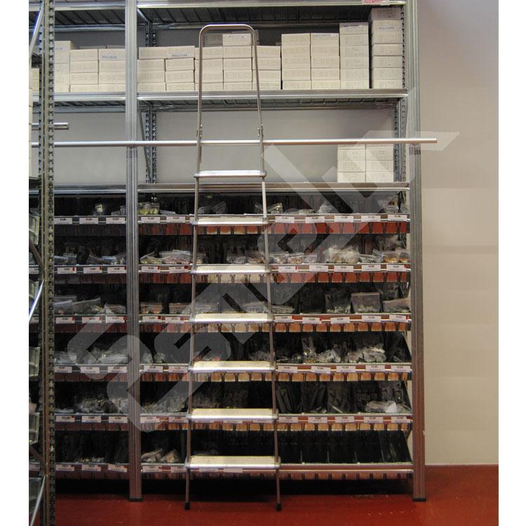 escaleras de bibliotecas adosadas a estanteras estantera universal mm de altura