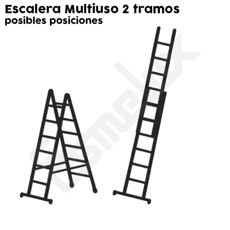 Escalera Multiuso AU de 2 tramos. Imagen #2