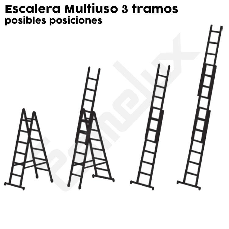 Escalera Multiuso AU de 3 tramos. Imagen #2