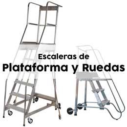 Escaleras de plataforma con Ruedas