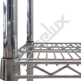 Mini Estantería cromada con estante contenedor. Imagen #3