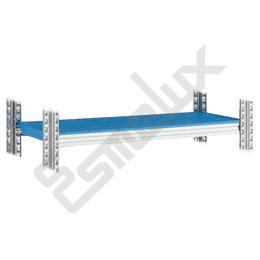 Estante Galvamil con paneles plásticos azules