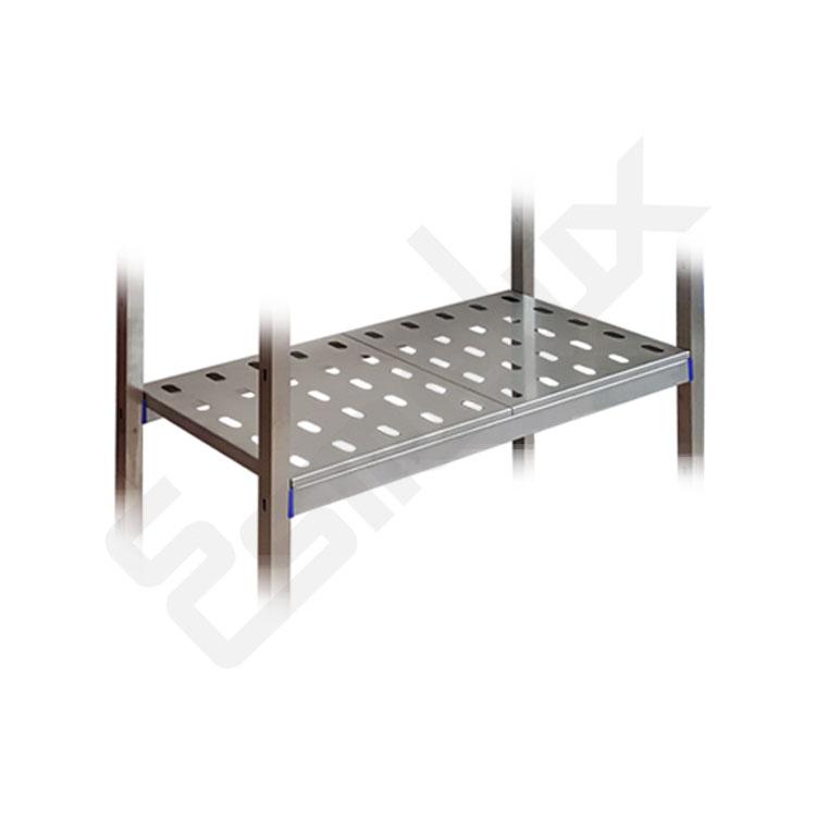 Estantería acero inoxidable con panel perforado. Imagen #1