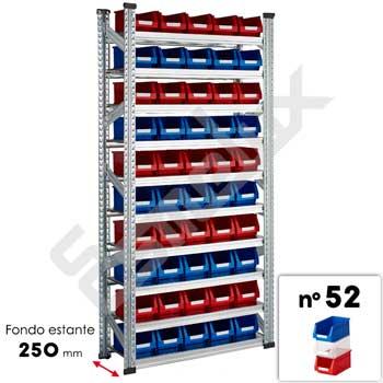 Estanterías Galvamil con gavetas 52 - 10 estantes