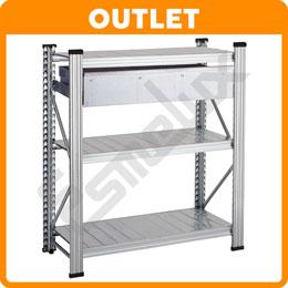 Mini estantería universal con 1 cajón extraíble