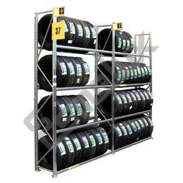 Estantería dos módulos para neumáticos