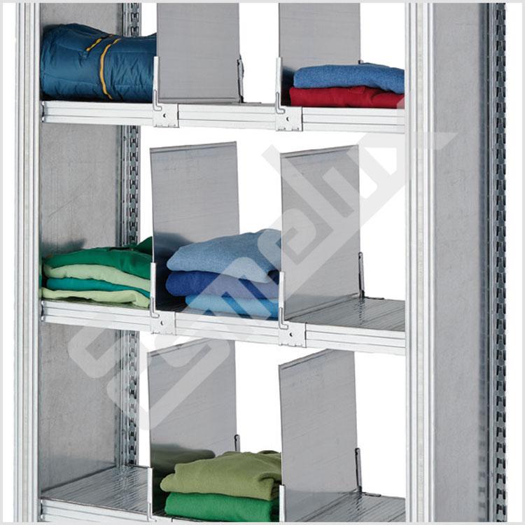 estanteras metlicas para almacenar ropa con separadores metlicos en los estantes le permiten organizar y clasificar para total del