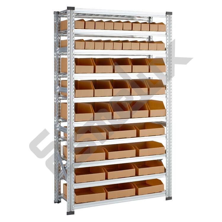 Estanter as con cajas de polipropileno celular - Cajas para estanterias ...