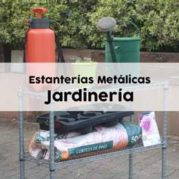 Estanterías metálicas para uso en jardinería