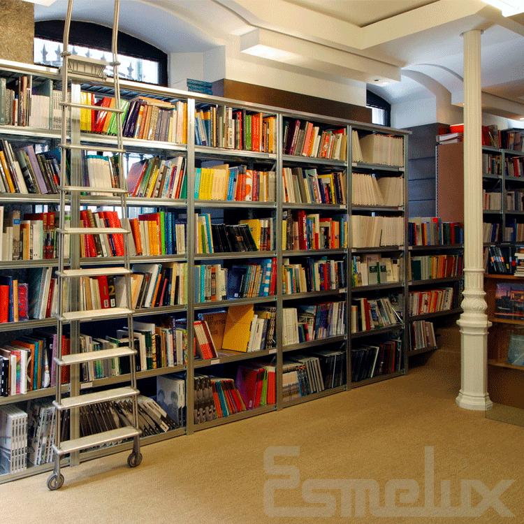 Estanteria para libreria estantera de metal en el - Estanterias para librerias ...