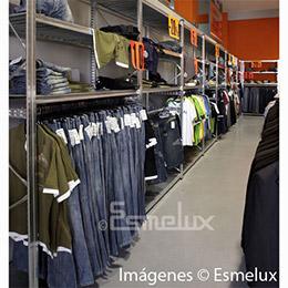 Estantería metálica textil 4 estantes + 1 colgador. Imagen #4