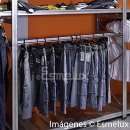 Estantería metálica textil 4 estantes + 1 colgador. Imagen #3