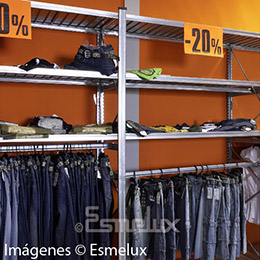 Estantería metálica textil 3 estantes + 1 colgador. Imagen #4