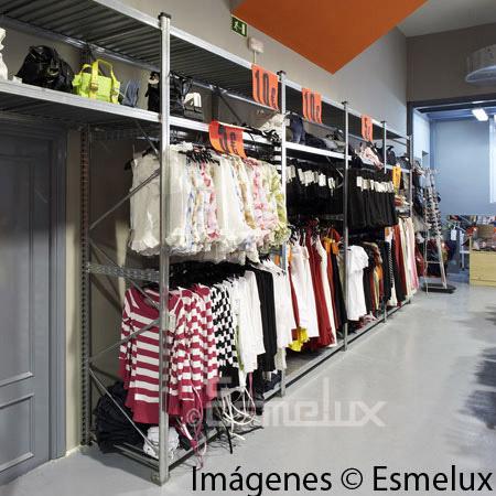 Estantería metálica textil 2 estantes + 2 colgador. Imagen #5