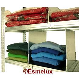 Estantería metálica textil 4 estantes + 1 colgador. Imagen #1