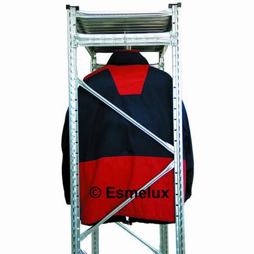 Estanter a met lica textil 4 estantes 1 colgador - Estanterias metalicas modulares ...