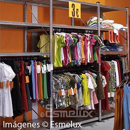 Estantería metálica textil 2 estantes + 2 colgador. Imagen #3