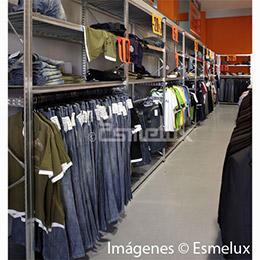 Estantería metálica textil 3 estantes + 1 colgador. Imagen #3