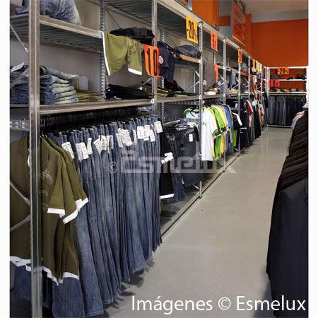Estanter a met lica textil 3 estantes 1 colgador - Estanterias para ropa ...