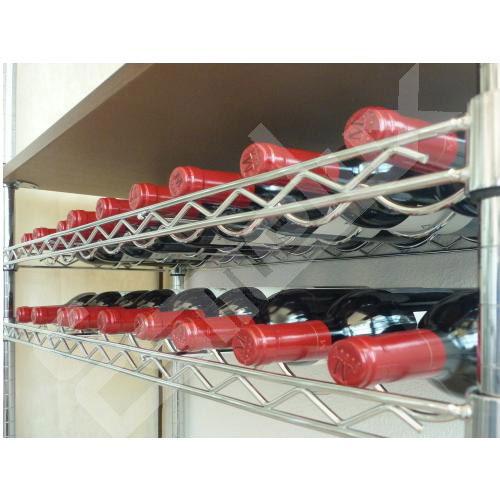 Estante Botellero para estantería cromada. Imagen #1
