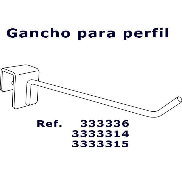 Gancho para perfil referencia 333336 - Ganchos para estanterias ...
