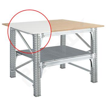 Mesa Trabajo TS con encimeras cuadradas y estante