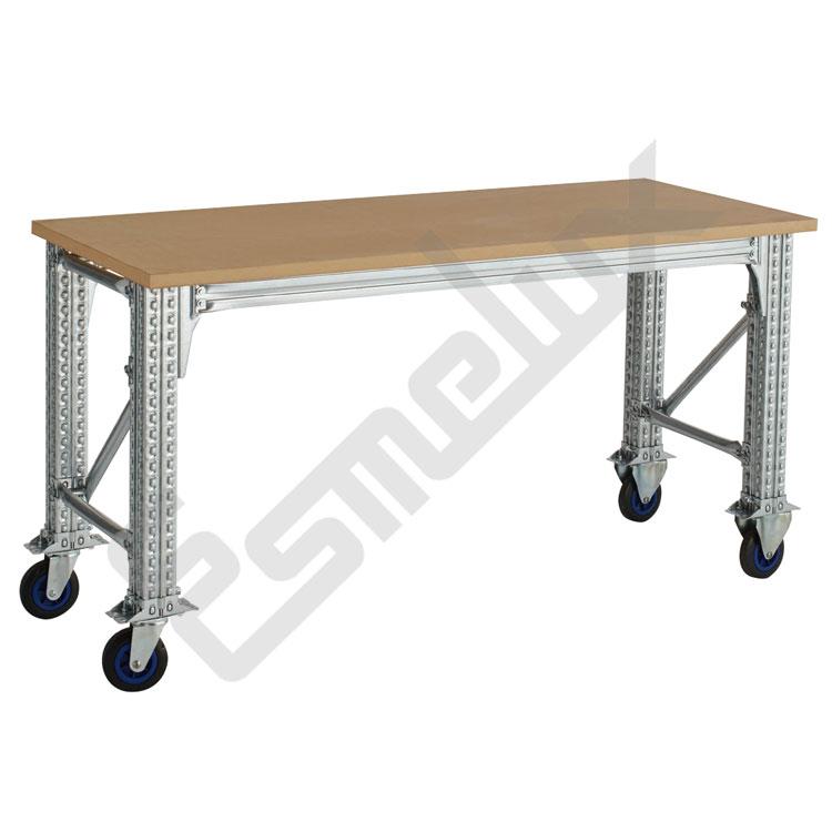 Mesas de trabajo ts para taller desmontables esmelux for Mesas de trabajo para taller