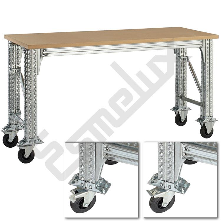 Mesas de Trabajo TS con ruedas y estante. Imagen #4