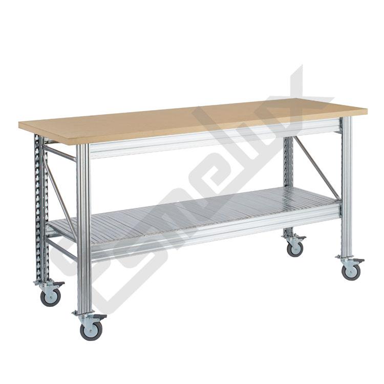 Mesa de trabajo ur con estante inferior referencia 119754 for Mesas de trabajo para taller